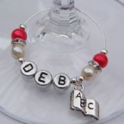 ABC Book Personalised Wine Glass Charm - Elegance Style